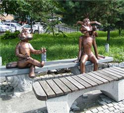 Кот Матроскин памятник фото